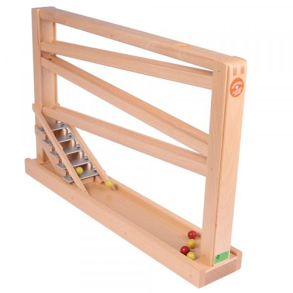 Kugelbahn natur Murmelbahn aus Holz mit Glockenspiel Beck Holzspielzeug