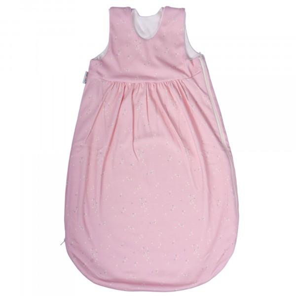Bio Schlafsack ohne Arm in Interlock rosa von PoPoLiNi