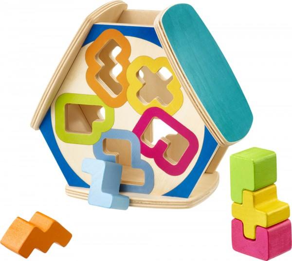 Sortierbox Sortino von Selecta kniffeliges Sortierspielzeug