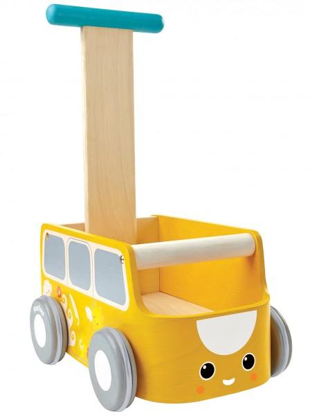 PlanToys Lauflernwagen Bus gelb
