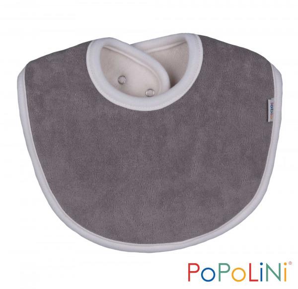 Bio Lätzchen in grau von PoPoLiNi