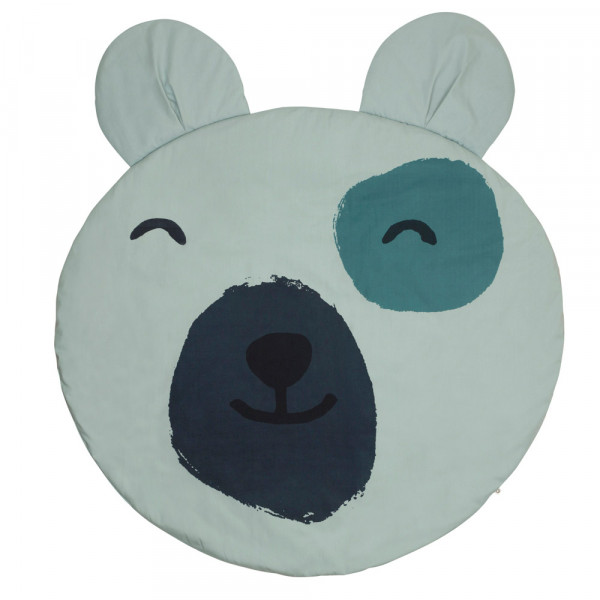 Muesli by green cotton Moderne Babydecke Teddy grau-blau