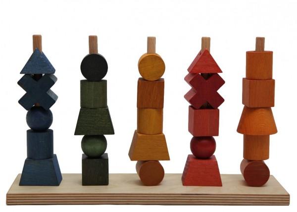 Woodenstory Steckspiel Regenbogen, 26- teilig