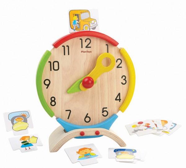 PlanToys Lernspiel Uhr aus Holz