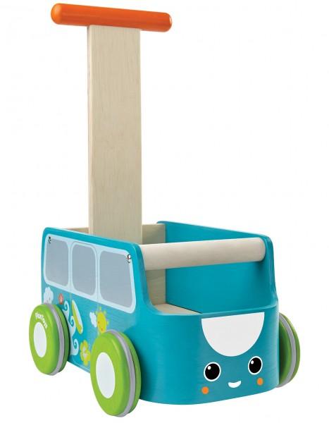 PlanToys Lauflernwagen Bus blau