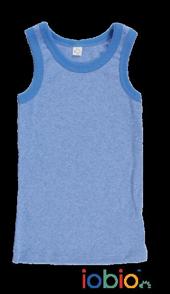 Bio Unterhemd blau von iobio