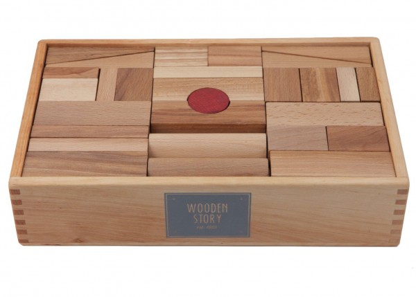 Holzkloetze naturbelassen 63-teilig Wooden Story