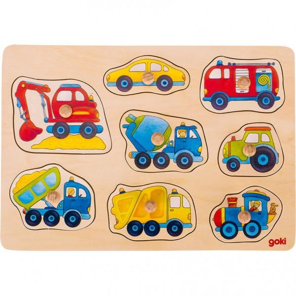 Steckpuzzle Fahrzeuge Goki