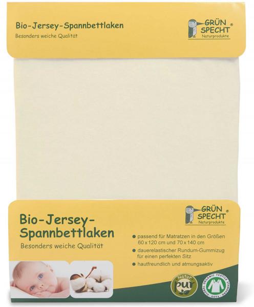 Bio Jersey- Spannbettlaken gelb von Grünspecht