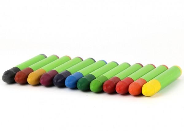 Wachsmalstifte 12 Farben ökoNorm Detail