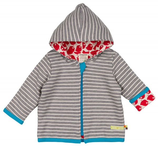 Bio Wendejacke Vogel grey Loud and Proud Babykleidung
