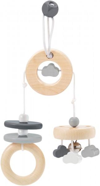Spielanhänger Wolken Spaß von Selecta in grau im bellybutton Design