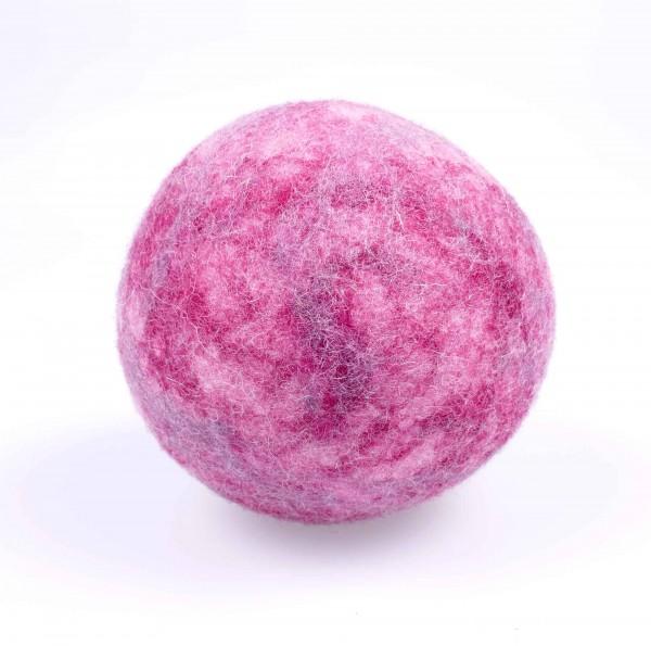 Filzball für Babys mit Rassel | rosa