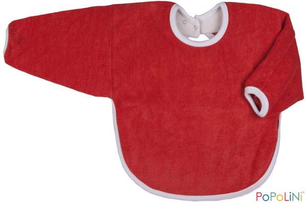 Bio Lätzchen mit Arm rot von PoPoLiNi