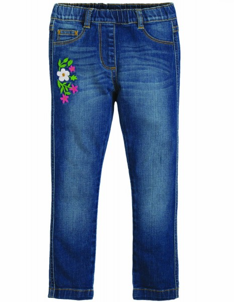 Frugi Bio Jeggings mit Blumen-Stickerei