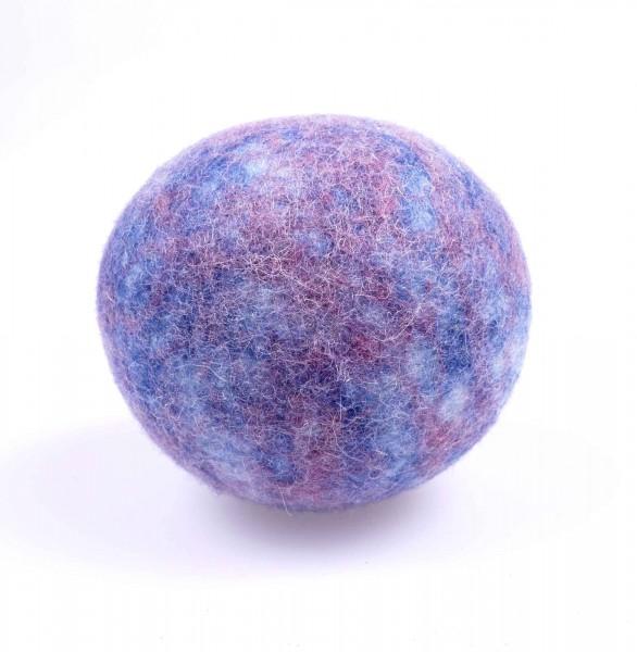 Filzball für Babys mit Rassel | hellblau