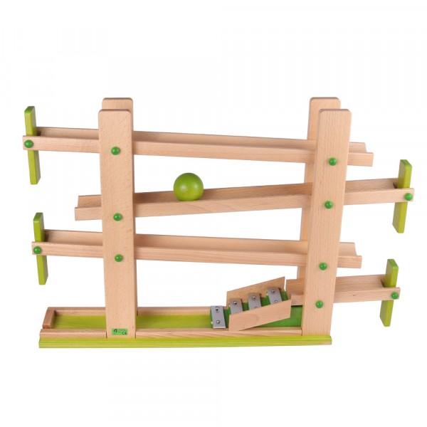 Holz Klappen Kugelbahn von Beck Holzspielzeug