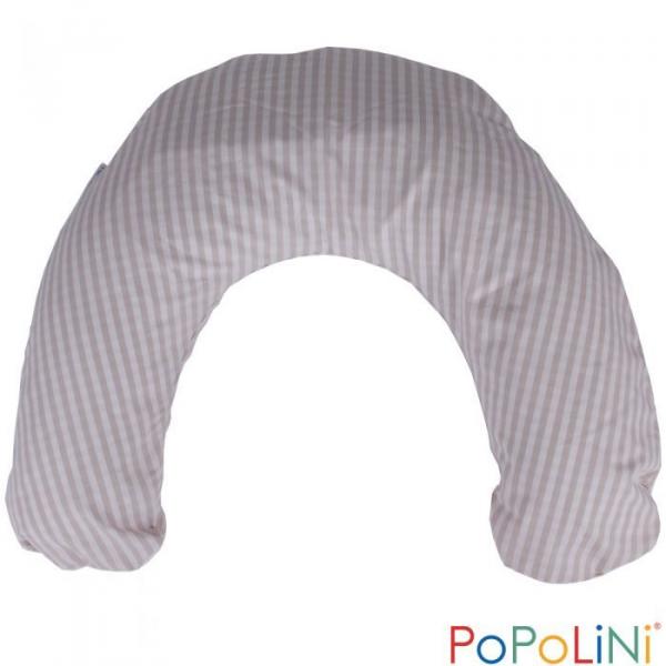 Bio Stillkissen mit Hirseschalenfüllung rosa kariert von PoPoLiNi