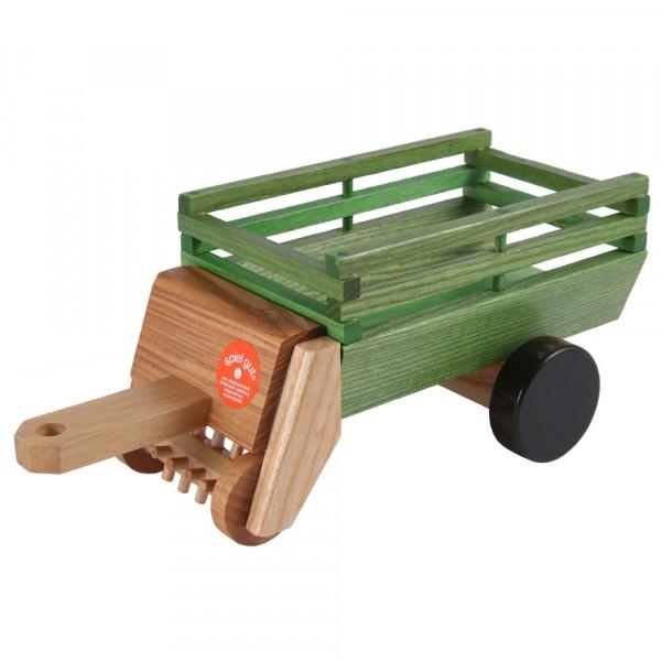 Heu- Ladewagen grün gebeizt von Beck Holzspielzeug