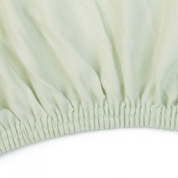 Bio Jersey- Spannbettlaken hellgrün von Grünspecht