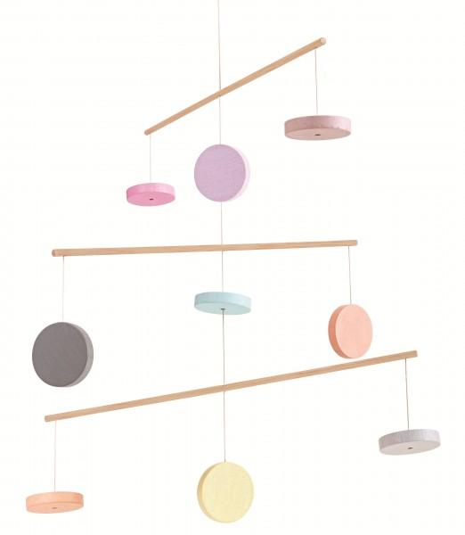 Plan Toys Mobile pastell mit Holzschei
