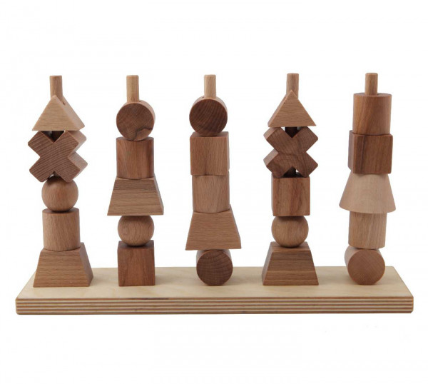 Woodenstory Steckspiel natur