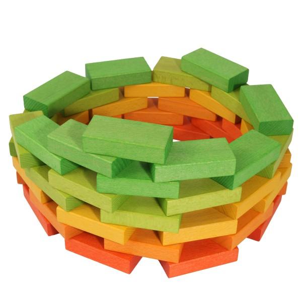 Beck Holzspielzeug Froebelbausteine bunt gebeizt Vorschau