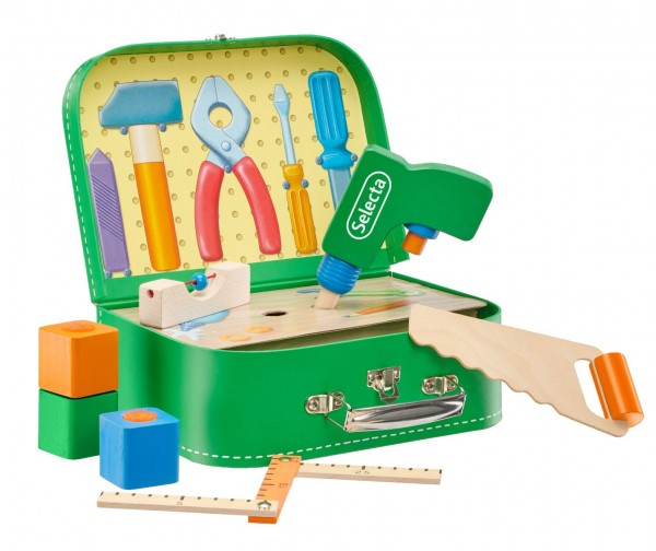 Werkzeugkoffer für Kinder aus Holz Selecta