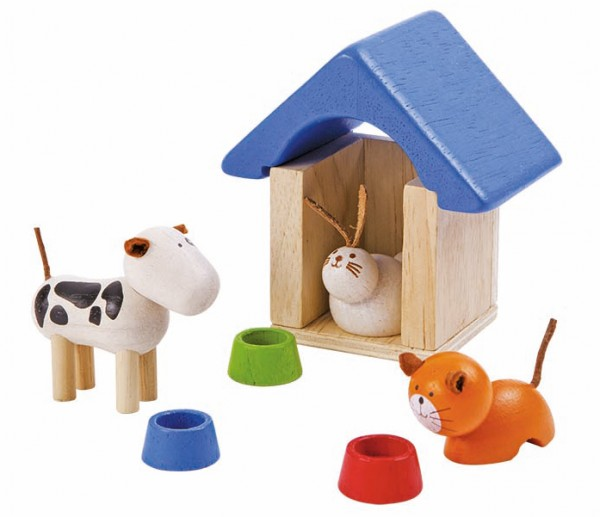 Puppenhaus Zubehoer Haustiere Plantoys
